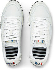 Ami Alexandre Mattiussi Paris Panelled White Leather Sneakers Sz 42/ US 9