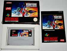 Super Nintendo Snes Spiel Game STAR WARS THE EMPIRE STRIKES BACK OVP CIB BOX PAL