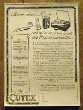 PUBLICITE TROUSSE CUTEX MANUCURE    advertising 1924
