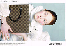 PUBLICITE ADVERTISING 074  1998  LOUIS VUITTON  bagages accessoires DAMIER ( 2 p