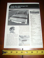 1970 DODGE DART SWINGER  - ORIGINAL VINTAGE AD