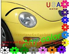 headlight eyeBROWS great accent for 3d eyelashes car beetle eyelid EYEBROW decal