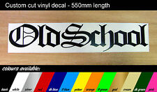 Old School - Large Decal  - VW / VAG / DUB / JDM sticker - 550mm  (v2)