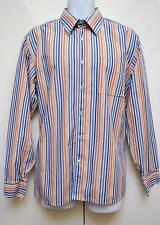 "Givenchy Mens Shirt L/Sleeved 16.5""/ 41 cm Designer Striped Multi Business Work"