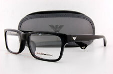 Brand New EMPORIO ARMANI Eyeglass Frames 3050 5017  BLACK for Men Size 55