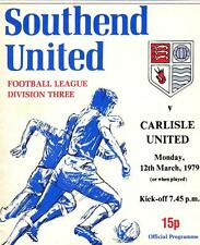 Southend  V  Carlisle United  1979  Football League Division 3 , match Programme