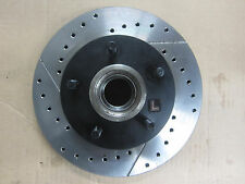 BRAND NEW 127.62013L PERFORMANCE FRONT DISC DRILLED & SLOTTED BRAKE ROTOR W/HUB