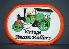 New Embroidered cloth badge -   Vintage Steam Rollers