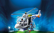 PLAYMOBIL® 6874 Police Helicopter w LED Searchlight NEW 2016 S&H FREE WORLDWIDE