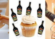 baileys drink whiskey x24 edible stand up cup cake toppers wafer paper pre-cut