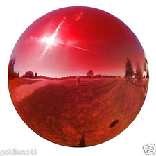 "4"" Stainless Steel Red Gazing Ball Globe VCS RED04"