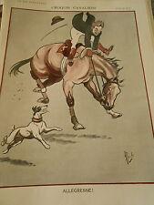 Croquis Cavaliers Allégresse ! Cheval dessin de Mich Print Art Déco 1907