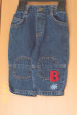 BABY BOY BLUE DENIM JEANS ADAMS 3 - 6 MONTHS ELASTICATED WAIST 5 POCKETS BNWOT