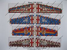 15mm Renaissance Early Tudor  Paper Flags (1) Henry VIII