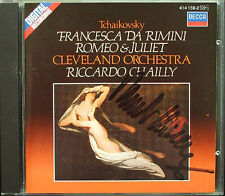 Riccardo CHAILLY Signed TCHAIKOVSKY Francesca da Rimini Romeo and Juliet CD 1985