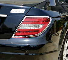 MERCEDES C CLASS W204 2007 to 2014 Chrome Rear Light Trim