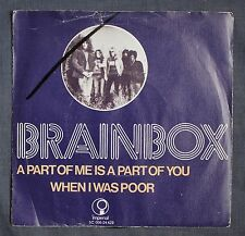 BRAINBOX - A PART OF ME -  RARE 1969 DUTCH IMPERIAL PICTURE SLEEVE 45 PSYCH PROG