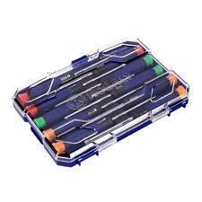 Precision Screwdriver Set Phillips Slotted Repair Tool Kit - 10 Piece + Case