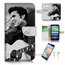 Samsung Galaxy S6 Flip Wallet Case Cover! S8415 Elvis Presley