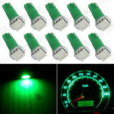 10x T5 Green Dashboard Gauge 1SMD LED Wedge Instrument Panel Light Bulb 58 70 74