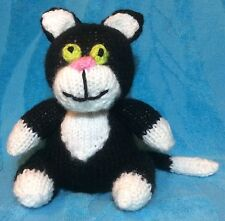 KNITTING PATTERN - Jess the Cat choc orange cover / 14 cms Postman Pat toy