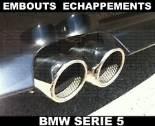 BMW E60 E61 SERIE 5 2003-2010 TUBO DE ESCAPE CROMADO INOX CHROME CROMO 71mm M M5
