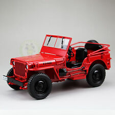 1:18 Scale Diecast Car Model,Welly,1/4 Ton US ARMY WILLYS JEEP TOP DOWN