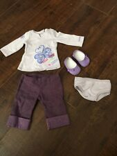 American Girl Doll Jly Retired Meet Outfit Purple Shirt Pant Shoes Underwear