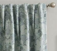 *Sun Zero Mayfair Room-Darkening Rod-Pocket/Back-Tab Curtain Panel 54Wx95L Aqua