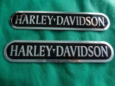 BRAND NEW harley davidson tank emblem 2pcs metal touring road king softail dyna
