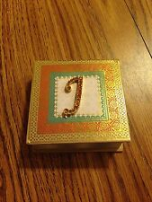 """""""J"""" 2x2 inch square notes pad in a hard cover book Bedaszzled J"""