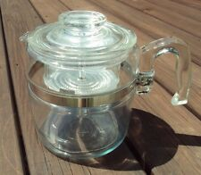Vtg PYREX Clear Glass Stovetop COFFEE Maker ~ 6 Cup 7756 ~ PERCOLATOR Complete!