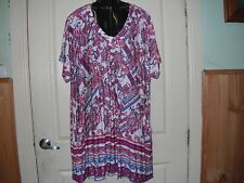 """AUTOGRAPH MULTI COLOUR """"PAISLEY"""" TUNIC SZ 24-NEW AUTOGRAPH NEW STOCK JUST IN!!"""
