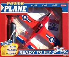 Schylling Power Plane Retro  Remake Toy Wired Airplane Jet Red (Disscontinued )