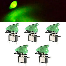 5 X 12V 20A Green Cover LED Light Rocker Toggle Switch SPST ON/OFF Car Truck