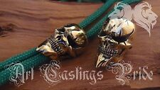 *Joker Skull* HAND MADE Bronze Paracord Knife Leather Lanyard Bead / Beads