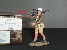KING AND COUNTRY EA64 8TH ARMY FOREIGN LEGION MARCHING WITH MACHINE GUN FIGURE