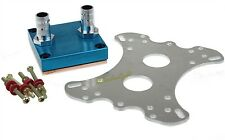 """Water Cooling CPU Block Copper 50X50mm 3/8"""" OD Barb For Intel AMD Xeon"""