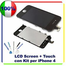 TOUCH SCREEN + LCD RETINA + FRAME + KIT IPHONE 4G NERO VETRO DISPLAY SCHERMO