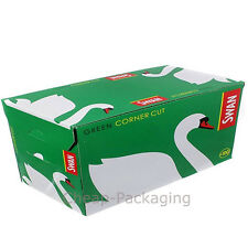 Swan Standard Green Corner Cut Rolling Paper Cigarette Papers 100 Booklets