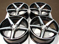 17 4x100 4x114.3 Rims Black Fits Integra Golf  Miata Yaris Accord 4 lug Wheels
