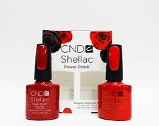 CND Shellac Gel Polish Red Glitter Ruby Ritz & Wildfire Combo 2ct/pk
