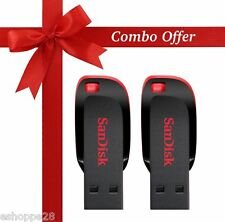 8GB SANDISK CRUZER BLADE PEN DRIVE - COMBO PACK OF 2 Pcs.