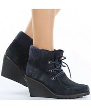Lacoste Womens Adalyn Srw Boot Shoe Winter Wedge Uk Sizes  7.5 Dark Navy