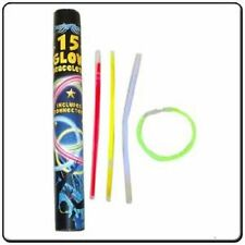 15 Glow Stick Bracelets with Connectors in Tube
