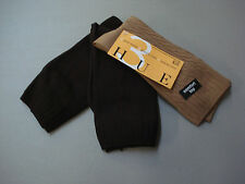 NWT Women's Hue Cable/Flat Knit Comfort Top Socks One Size 3 Pair Multi #795E