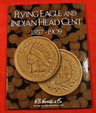 INDIAN HEAD CENTS 34 COINS IN NEW HARRIS BOOK COLLECTOR CHECK OUT STORE IH764 B1