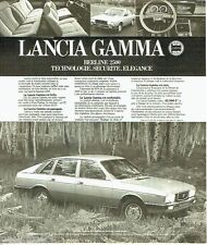 PUBLICITE ADVERTISING 116  1978  la Lancia Gamma berline 2500 réseau Chardonnet