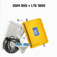 LCD Display GSM 900 4G LTE 1800 mhz Dual Band Mobile Signal Amplifier Repeater