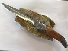 Couteau de chasse pliant Laguiole manche bois étui,couteau de poche,canif,knife